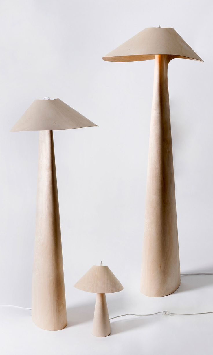 "EMMANUEL GARDIN: ""Kino"" is a luminaire produced from a single sheet of birch multiplex."