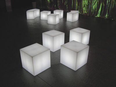 Outdoor Table Light 301 best light images on pinterest light fixtures lamps and lights cubo led rgb luminous low stool wireless 43 x 43 x 43 cm workwithnaturefo