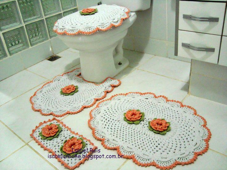 Jogo De Banheiro Verde E Branco : Melhores imagens sobre croch? e tric? no