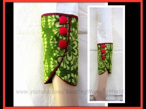 Full Length PETAL | TULIP Sleeve for Kurti | Kameez | Dress| DIY || AWW#279 - YouTube