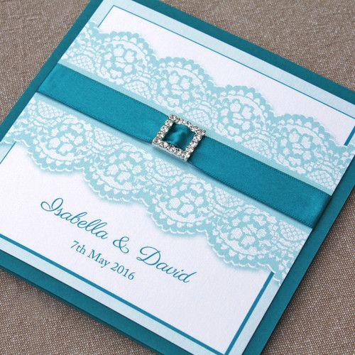 'Isabella' Pocketfold Wedding Invitation | Pink Sherbet Stationery  www.pinksherbetdesigns.co.uk