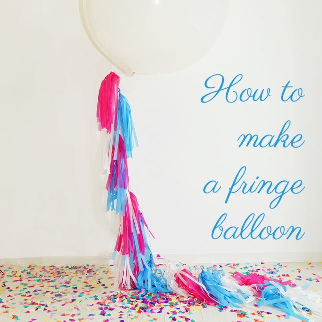 Fringe Balloon -Tassel Balloon -DIYフリンジタッセルバルーン -wedding -Maternity -作り方 |ARCH DAYS