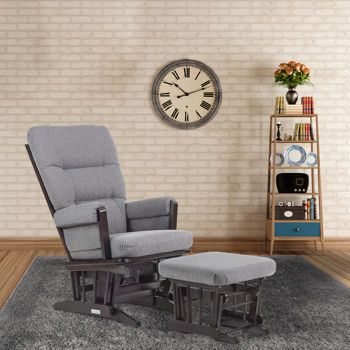 Dutailier® Ultramotion Cassia Grey Glider with Ottoman