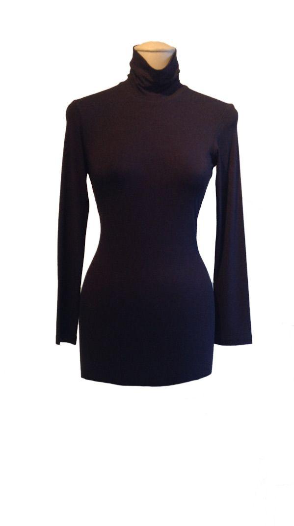 Basic Black : Knit black poloneck | Philosophy clothing - designer clothing for women on the move