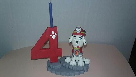 Paw Patrol inspired candle numbers