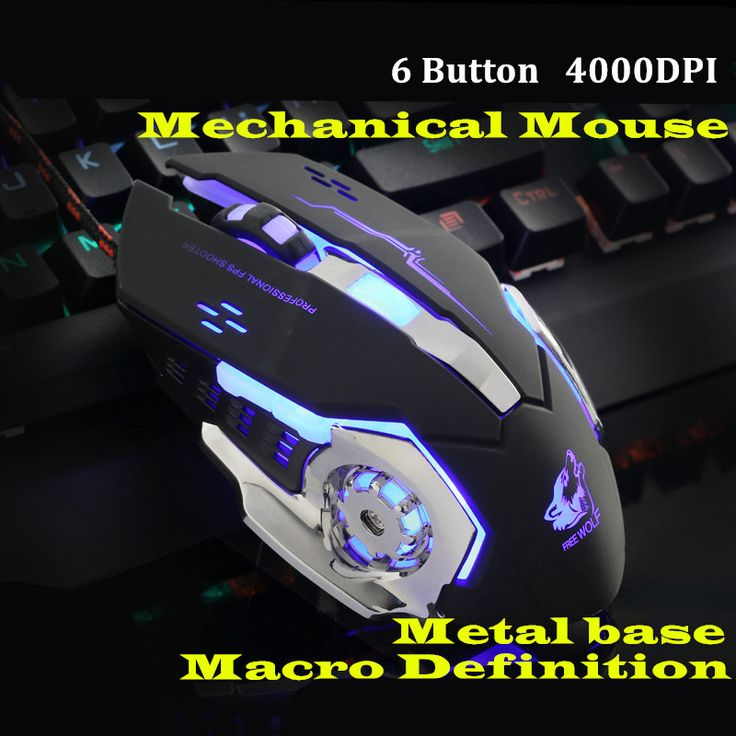 Gaming Mause Computer Peripherals 6 Button Wired Mouse 4 Color Breathing Lamp Ajustable 4000DPI USB Mice Mechanical Mouse Gamer //Price: $96.29      #FirstDayOfSummer