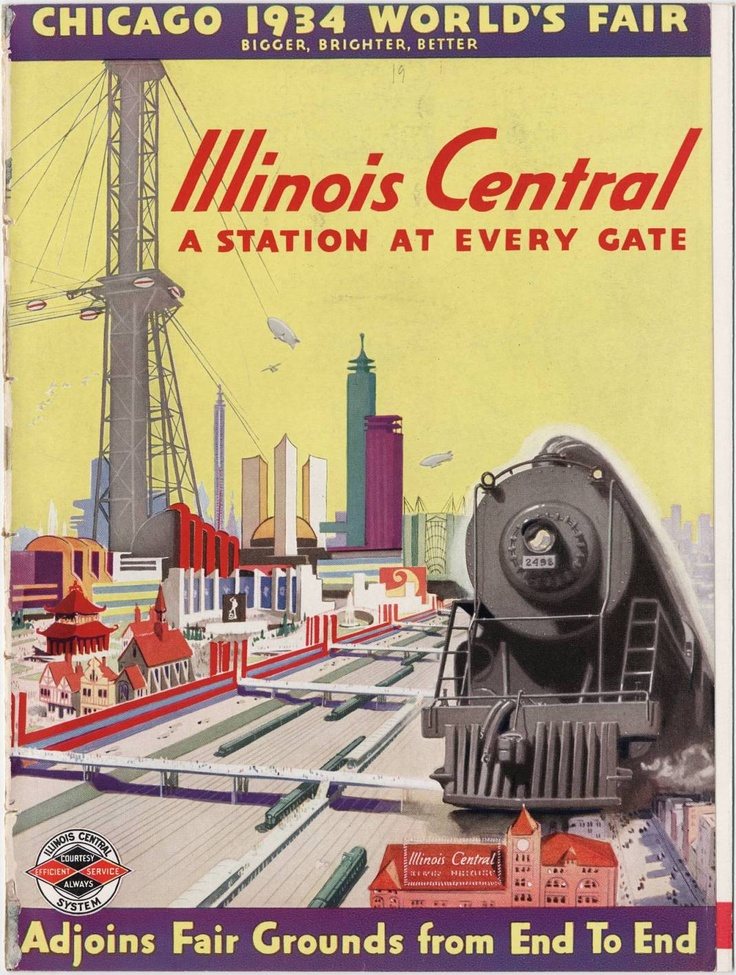 Illinois Central Railroad Company, 1933 World's Fair; University of Chicago Library Special Collections Research Center