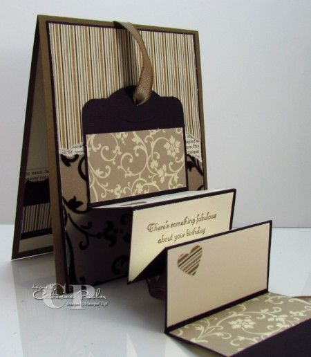 Moving card: Cards Ideas, Folding Tags, Folding Cards, Moving Cards, Tags Cards, Cards Fancy, Accordian Cards, Paper Crafts, Step Cards