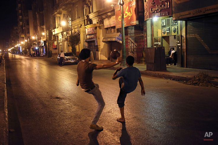 Mideast Egypt Cairo Under Curfew