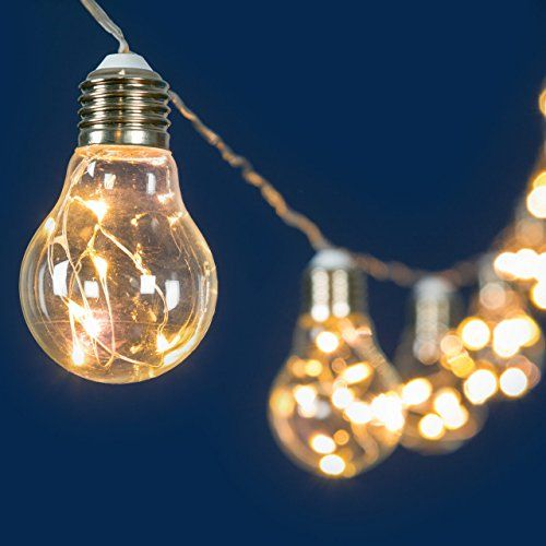 Catena decorata 10 m, 20 lampadine microled bianco caldo, Ø 55 x h 95 mm, luci per eventi, decorazioni di luci per feste LuminalPark http://www.amazon.it/dp/B013DZ6EAI/ref=cm_sw_r_pi_dp_S.sNwb0T4CZZ1