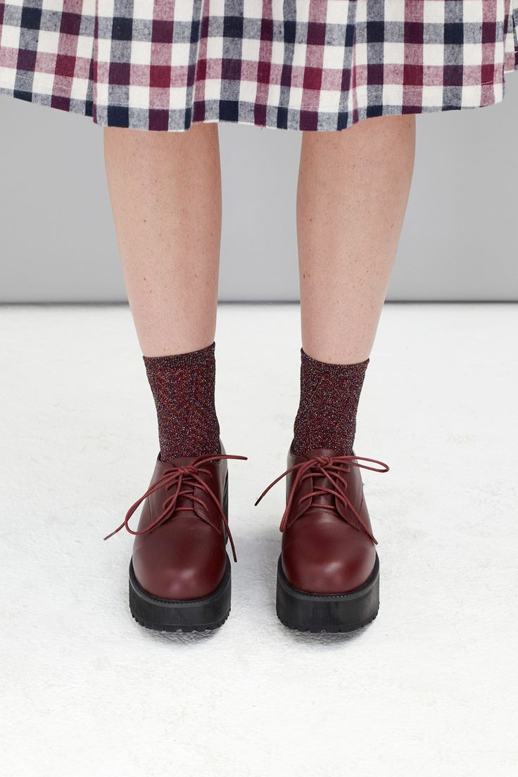 Leather Chunky Heel Brogue Burgundy by THE WHITEPEPPER http://www.thewhitepepper.com/collections/shoes/products/leather-chunky-heel-brogue-burgundy