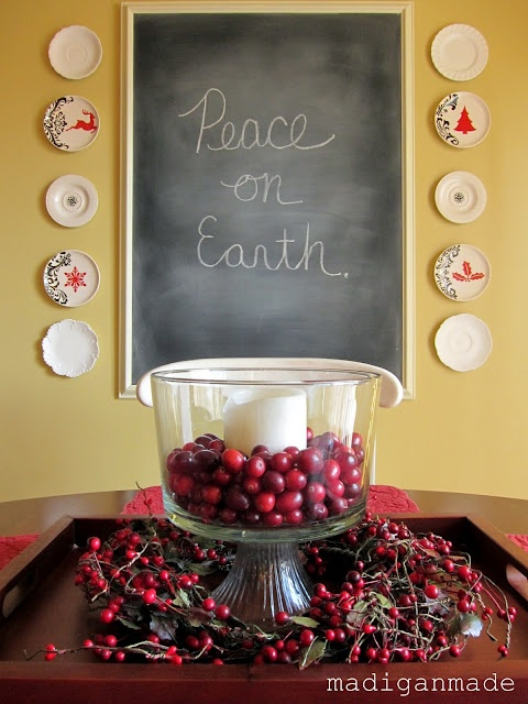 Christmas Decorating Ideas with Cranberries