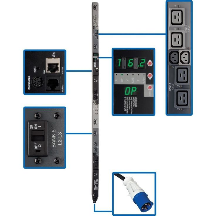 Tripp Lite Switched Rackmount PDU with Pre-Installed Mounting Buttons - 6 x IEC 60320 C13, 12 x IEC 60320 C19 - 16.20 kVA - Network (RJ-45) - 0U