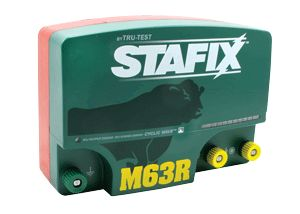 The Stafix M63R Energizer delivers up to 63 joules when required, making it the most powerful energizer in the world.  The Stafix M63R has been through extreme environmental testing to ensure that it exceeds the demands encountered on any game park or farm, making it the perfect energizer for large properties with extensive electric fencing systems. Made in New Zealand. Two year warranty. Uses 220/240 volt power source.