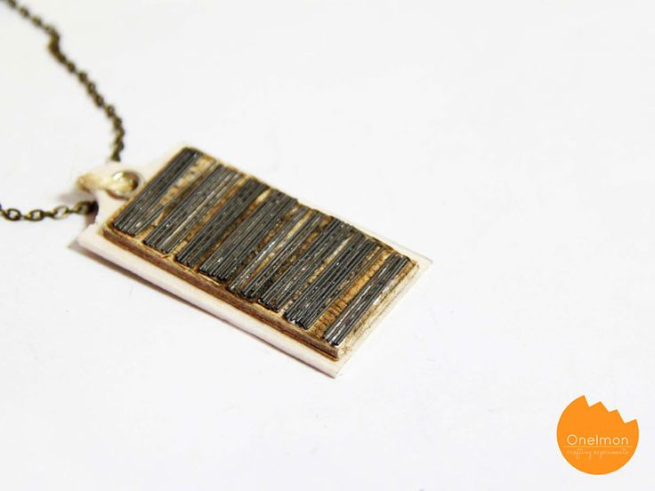 DIY Tutorial: Learn how to make this fun geeky barcode necklace with pencil lead #accessories