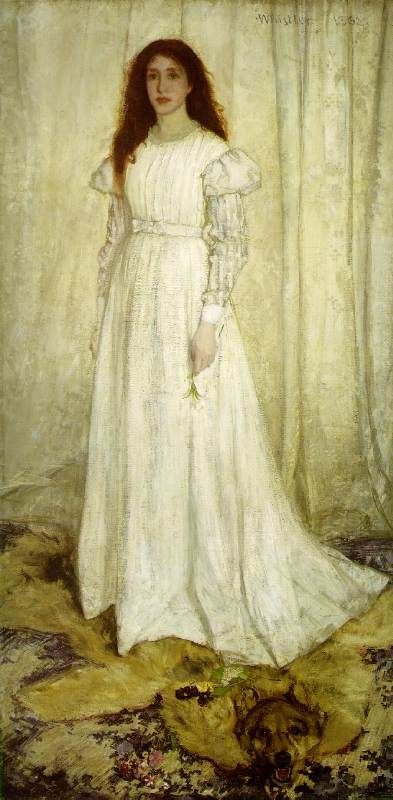 -- James Whistler, Symphony in White, No. 1: The White Girl 1862; Oil on canvas, 214.6 x 108 cm; National Gallery of Art, Washington