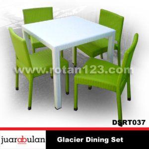 Glacier Dining Set Meja Makan Rotan Sintetis DSRT037