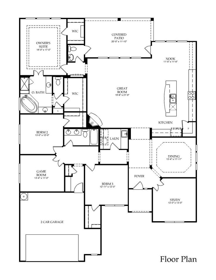 One story home plans with game room for Game room floor plans ideas