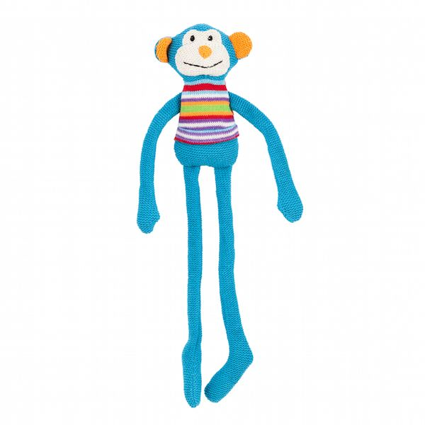 Lily & George have a sweet and fun collection of colourful knit toys that are full of character. They make a lovely friend for any new baby or little one. Max the Monkeyfeatures a soft waffle knit and measures 40cm tall.