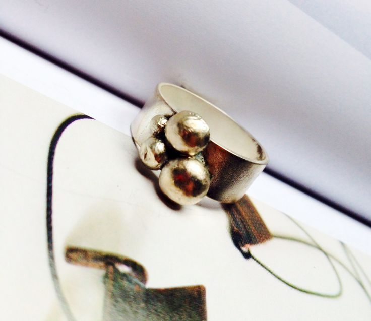 Eco silver handmade ring x