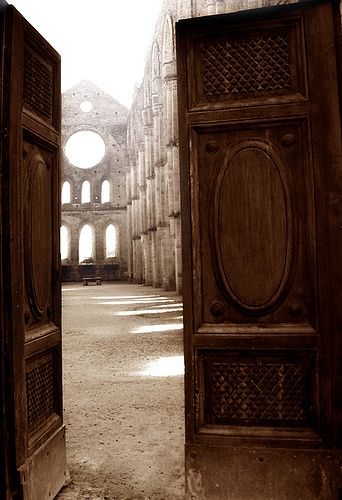 """The gates of heaven... San Galgano, Siena,Tuscany, province of Siena ... This was a """"heavenly"""" trip with great friends!"""