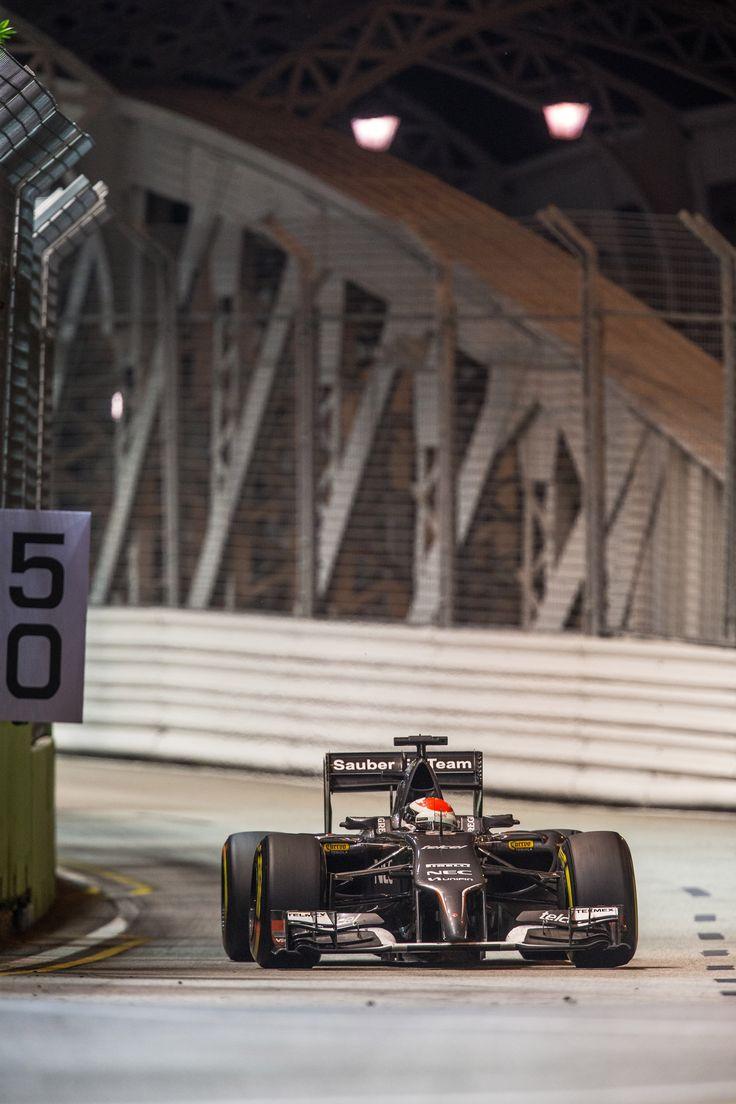 On Track w/the #SauberF1Team at the #F1 2014 #SingaporeGP