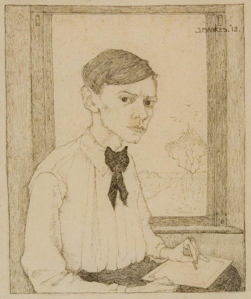 Jan Mankes - Self portrait