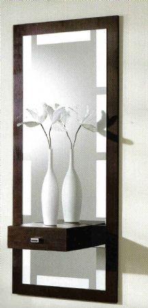 Espejo para recibidor consola con espejo largo for Espejo largo pared