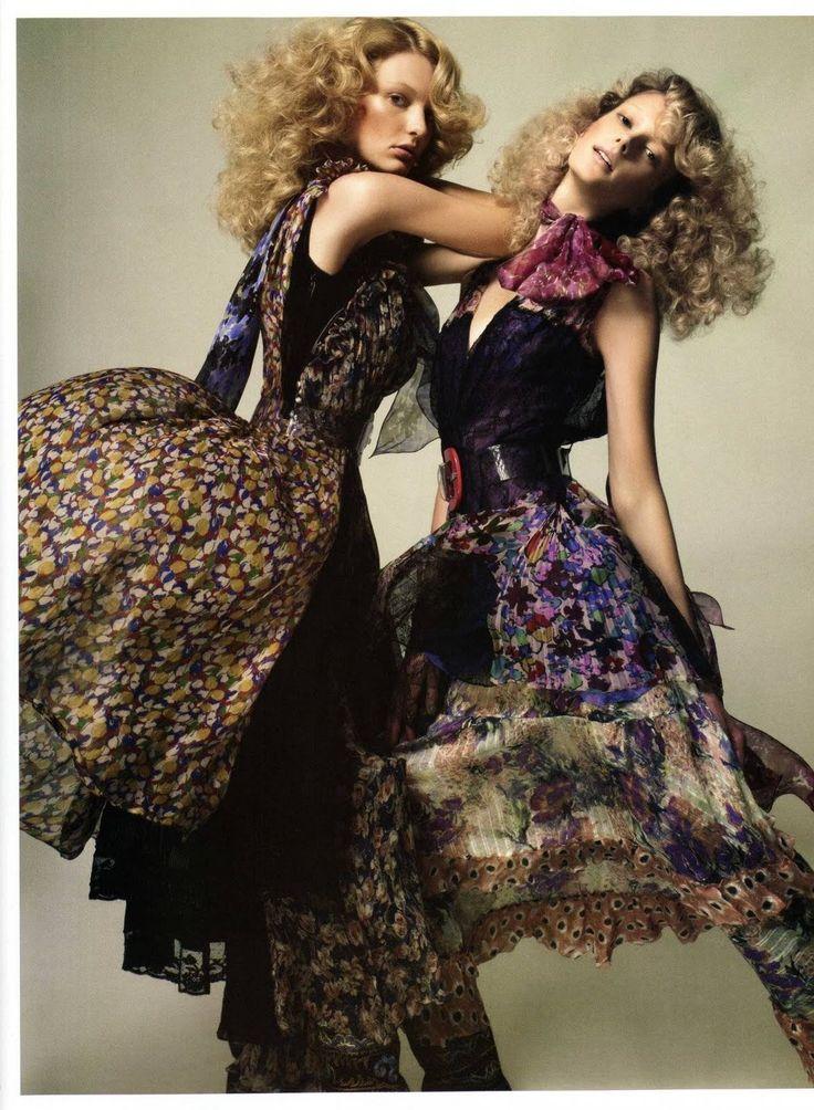 Prom dress 70s hippie makeup