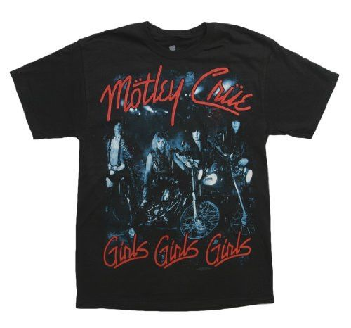 Motley Crue 'Girls Girls Girls' Black T-shirt