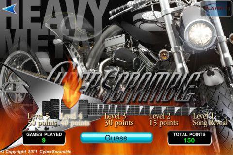 Heavy: Heavy Metal, Metals, Metal Cyberscramble, Heavy Cyberscramble, Play Cyberscramble