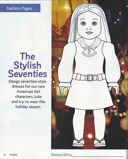 living a dolls life ag coloring sheets_julie 2007 - American Girl Coloring Pages Julie