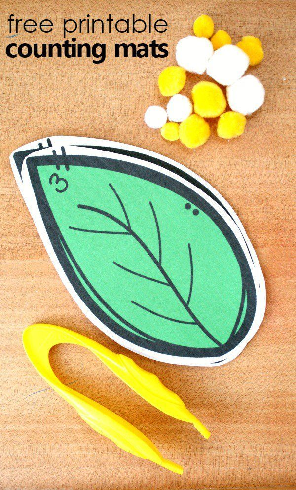 free printable caterpillar egg counting mats for your preschool butterfly theme