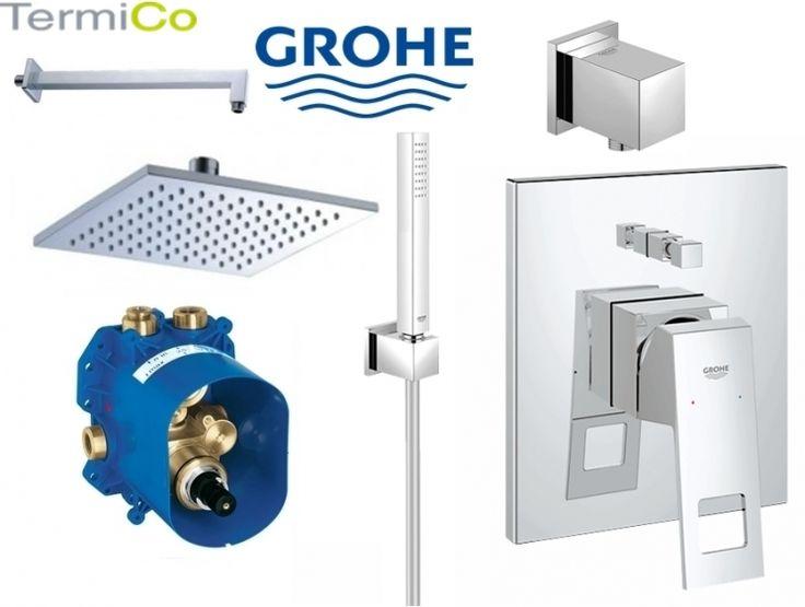 Grohe Eurocube kompletny zestaw prysznicowy z deszczownicą 200mm Nr.katalogowy: GR/EUROCUBE/OMNIRES