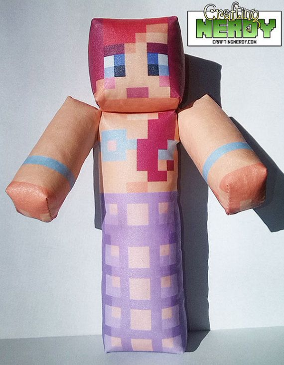 Mention ANGLSWNGS.....Plush Minecraft Inspired Amy Lee33 toy by CraftingNerdy on Etsy, $17.99