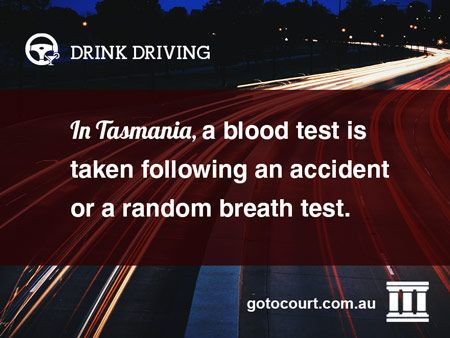 https://www.gotocourt.com.au/drink-driving/tas/blood-tests A DUI blood sample must be taken within 3 hours of the person driving. A small amount of blood is taken, usually from the arm, and is divided into the three containers in the blood sampling kit. One is given to the police, one to the driver and the third is kept as a control sample and must not be interfered with unless the court orders it.