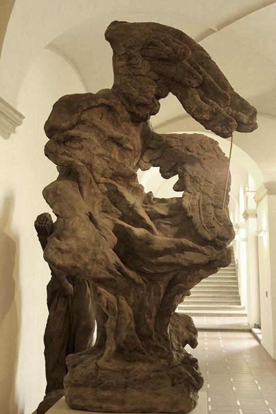 Mathias Bernard Braun - Angel 1 (rear view),1717-1718,sandstone,245cm,Prague-National gallery