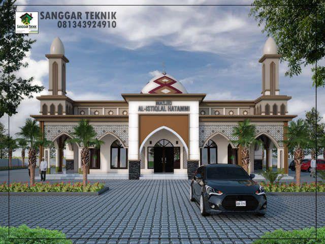 Gambar Desain Masjid Modern 15x15 1 Lantai Sanggar Teknik Gambar
