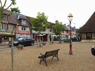 Quaint village on our tour in Normandy France