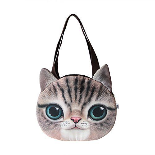 New Trending Cross Body Bags: Holiberty Fashion Womens Ladies Girls Cute 3D Animal Cat Face Head Printing Zipper Cross-body Casual Shopping Travel Single Shoulder Bag Tote Purse Satchel Handbag. Holiberty Fashion Womens Ladies Girls Cute 3D Animal Cat Face Head Printing Zipper Cross-body Casual Shopping Travel Single Shoulder Bag Tote Purse Satchel Handbag   Special Offer: $13.54      277 Reviews Stylish novelty women cute vivid 3D animal cat face head printing trav