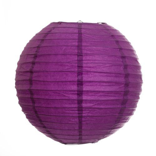 Koyal 14-Inch Paper Lantern, Plum Purple, Set of 12 by Koyal. $37.44. Traditional round paper lantern with easy assembly instructions. Perfect for catered presentations, weddings, bridal and baby showers, birthdays, classic candy buffets, dessert tables and more. Wire insert allows for easy hanging. Pair this with other Koyal Wholesale products, such as vases, event decorations, lighting, DIY craft supplies and dessert and candy buffet supplies. Light Kit Sold ...