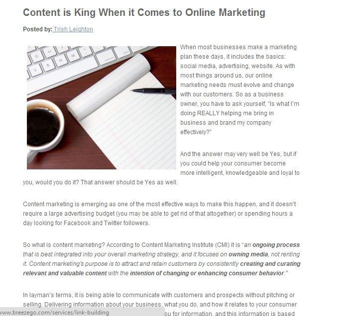 Content marketing is emerging as one of the most effective ways  and it doesn't require a large advertising budget or spending hours a day looking for Facebook and Twitter followers.