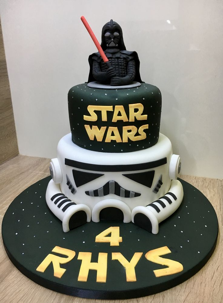 Star Wars Darth Vader Stormtrooper Birthday Cake