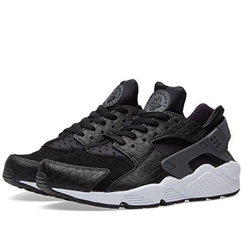 huge selection of 6d05e c8d2a NIKE Air Huarache Run PRM Men s Shoes Black Dark Grey White 704830-001
