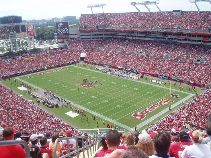 Raymond James Stadium, Tampa, FL...home of the Tampa Bay Buccaneers football team and the University of South Florida Bulls football team.