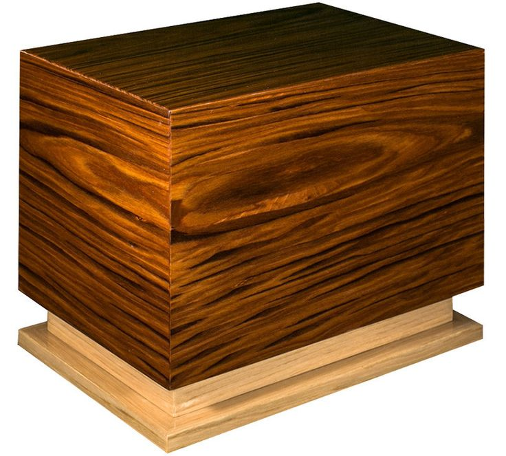 "Italian Lacquered Wood Cremation Urn in ""Pure"""