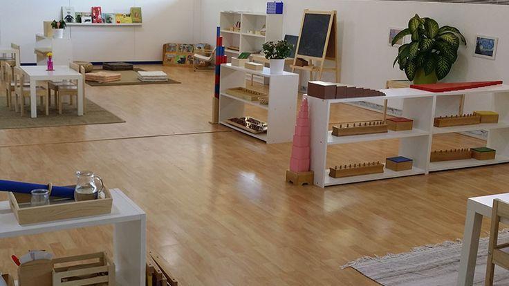 Montessori preschool-classroom - no clutter gives calm and feels spacious