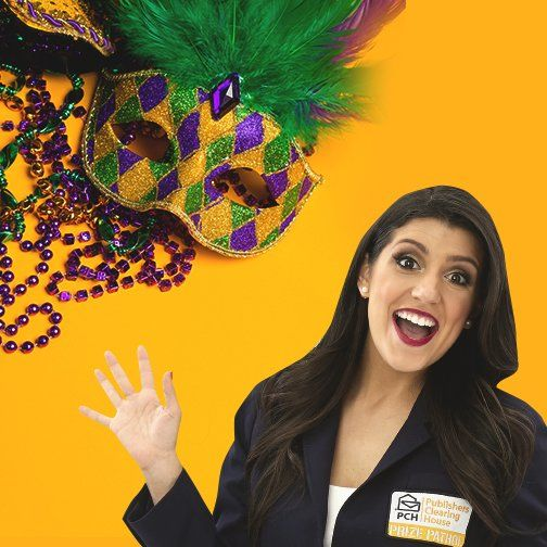 "#PCH on Twitter says......The Prize Patrol is getting ready for Mardi Gras! Who else is celebrating? Use that spirit & stay ""in it to win it!"" ....I am (Smiles)"