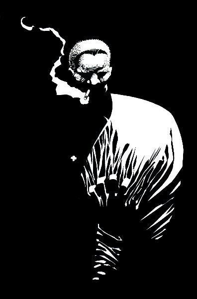 Sin City - Marv by Frank Miller http://media-cache-ec0.pinimg.com/originals/24/ca/de/24cadeede474cd7ef41e2f0aaa20bec2.jpg