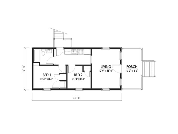 45 best Small home house plans images on Pinterest | Small house ...